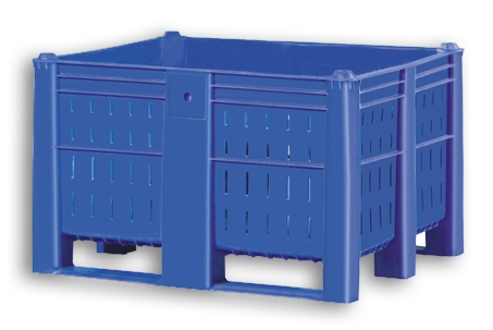 Blue Ventilated Plastic Stacking Euro Pallet Tank Box