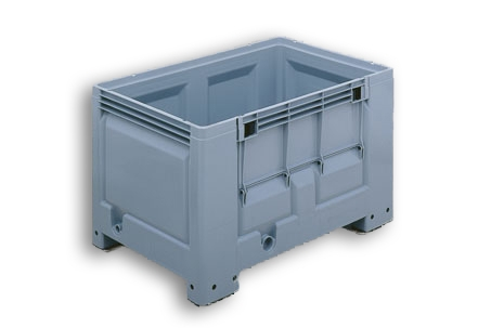 Grey Solid Plastic Stacking Euro Pallet Tank Box